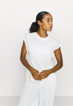 POPPY DREAMS CUT OFF TEE - T-shirt print - ivory
