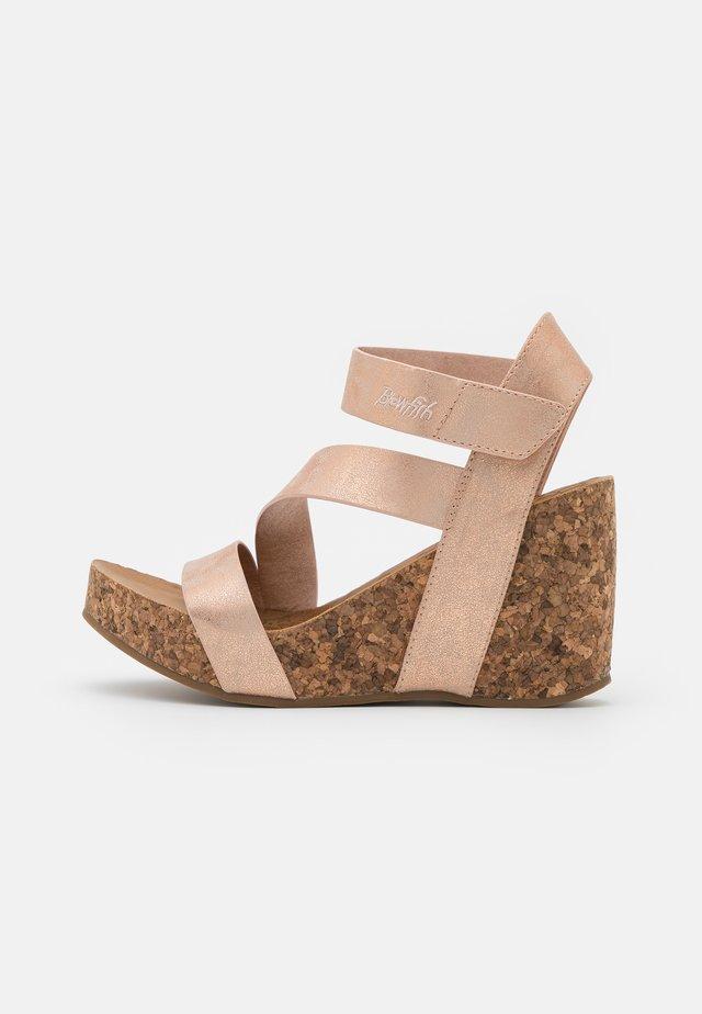 Platform sandals - rose gold cosmic