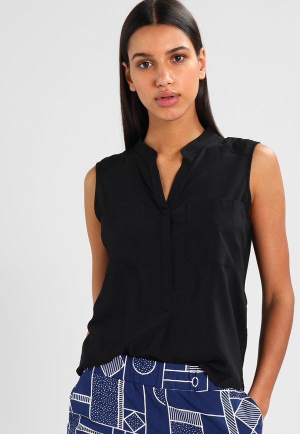 Vero Moda ERIKA SOLID - Bluzka - black/czarny VSPE