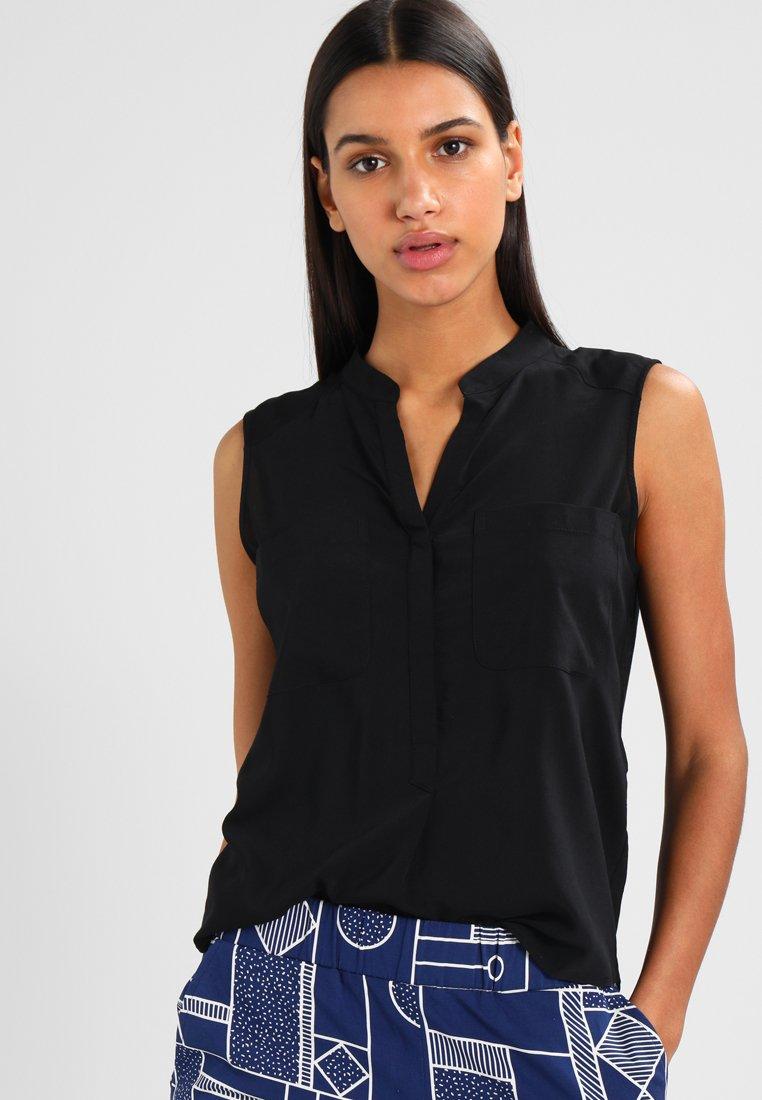 Vero Moda - ERIKA SOLID  - Bluse - black