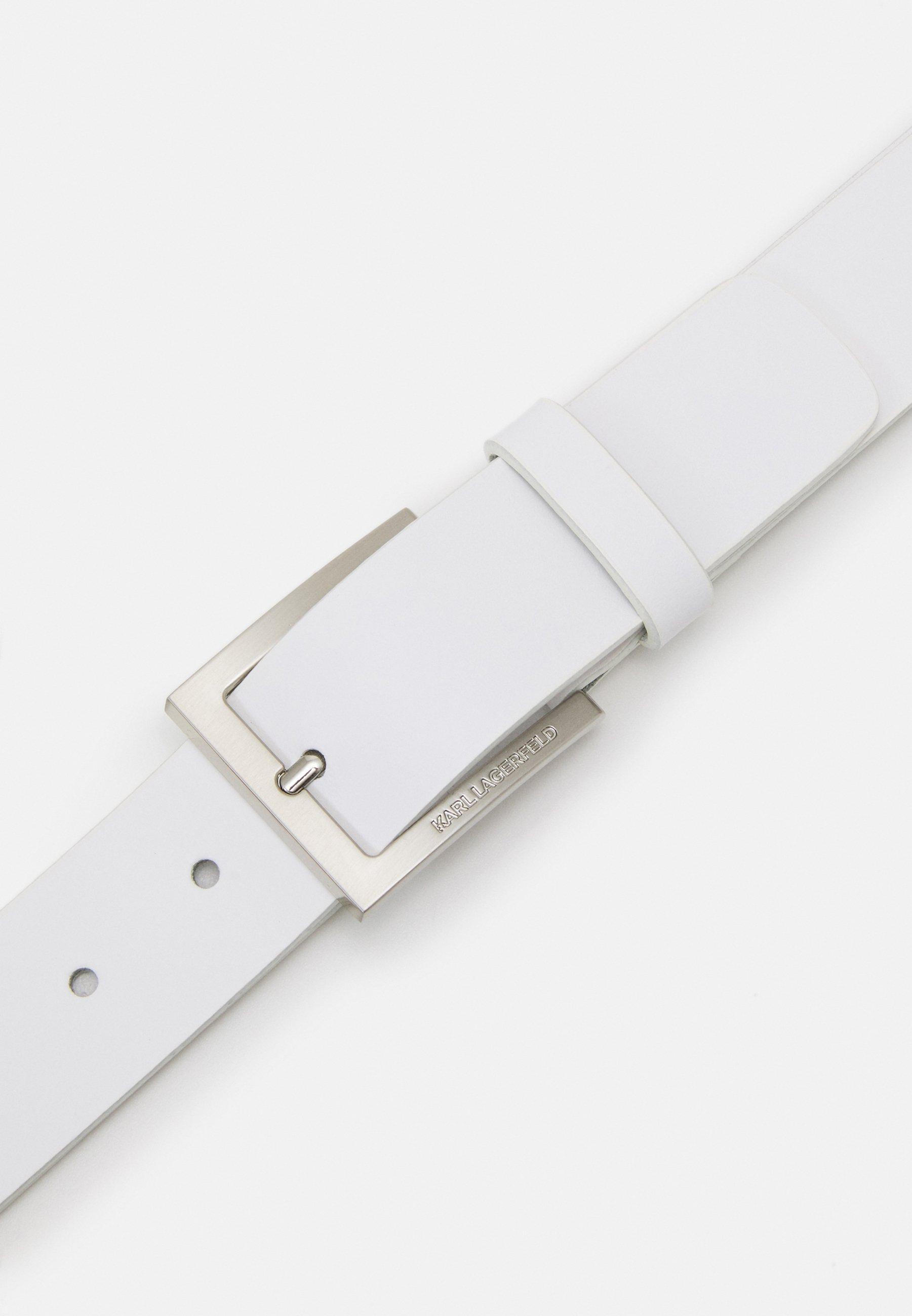 KARL LAGERFELD BELT - Belte - white/hvit rdzom0sSwlVbFx1