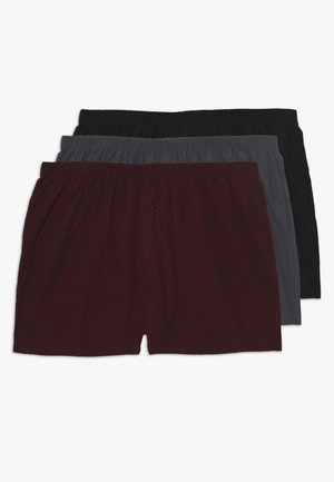 3 PACK - Trenýrky - black/grey/red