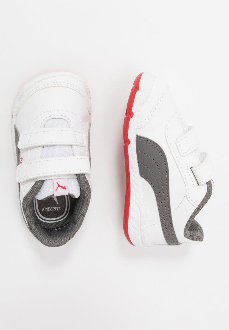 Puma - STEPFLEEX 2 UNISEX - Sportschoenen - white/castlerock/high risk red