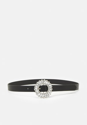 PCKAMILIA WAIST BELT - Waist belt - black/silver-coloured