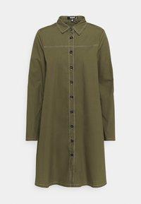 Missguided Tall - CONTRAST STITCH DRESS - Shirt dress - khaki - 0