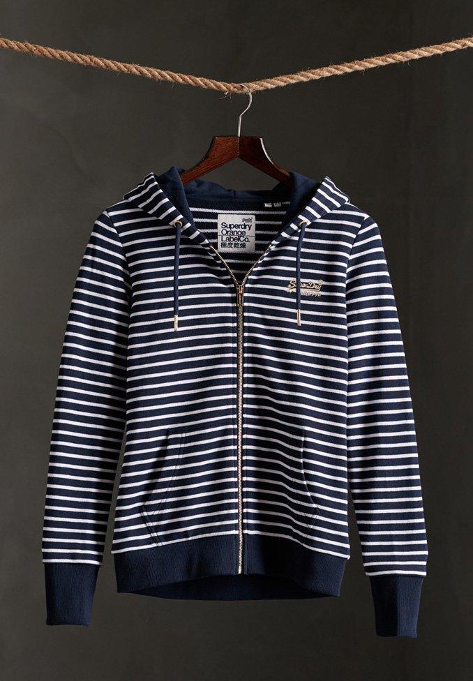 Women SUPERDRY ORANGE LABEL CLASSIC LOOPBACK  - Zip-up sweatshirt