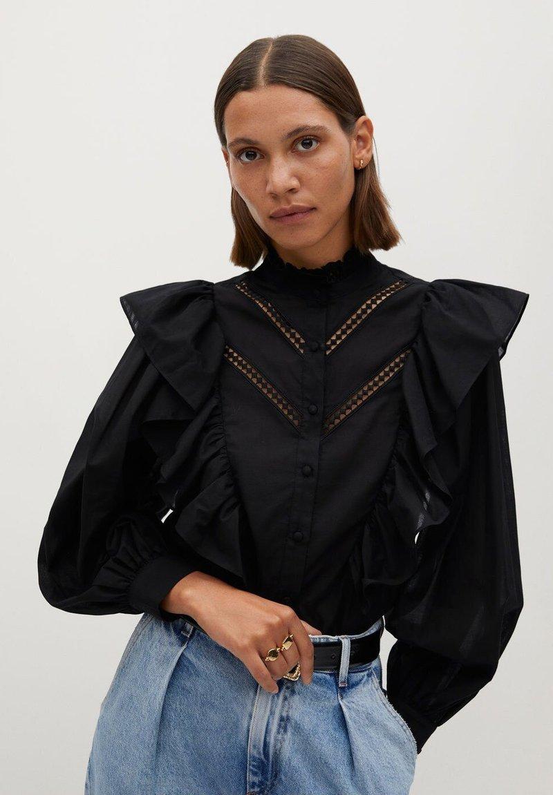 Mango - ROMA - Button-down blouse - zwart