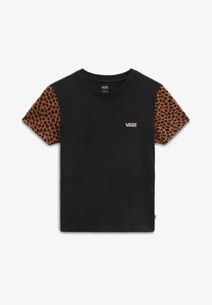 T-shirt z nadrukiem - black/animal spot