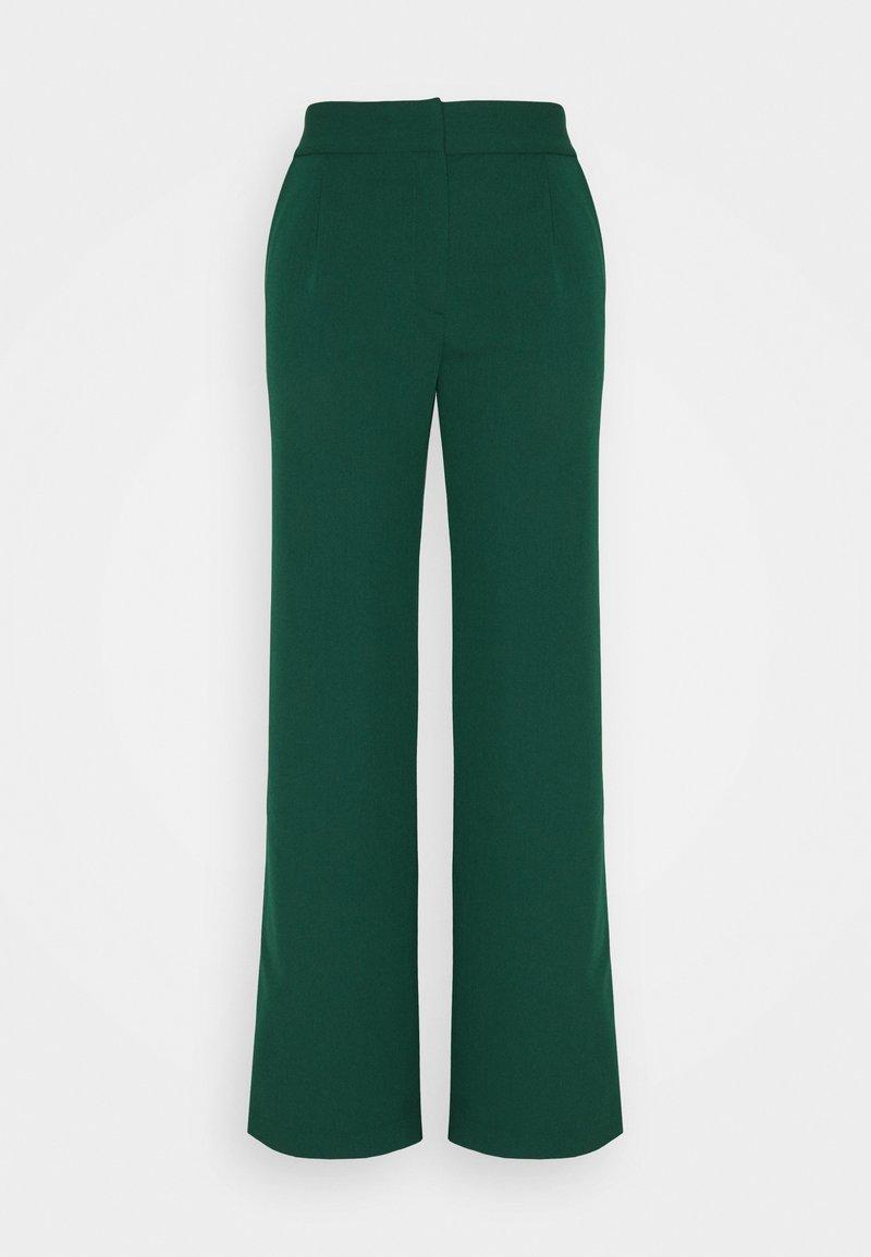 YAS - YASBRIZAL WIDE PANTS - Spodnie materiałowe - pineneedle