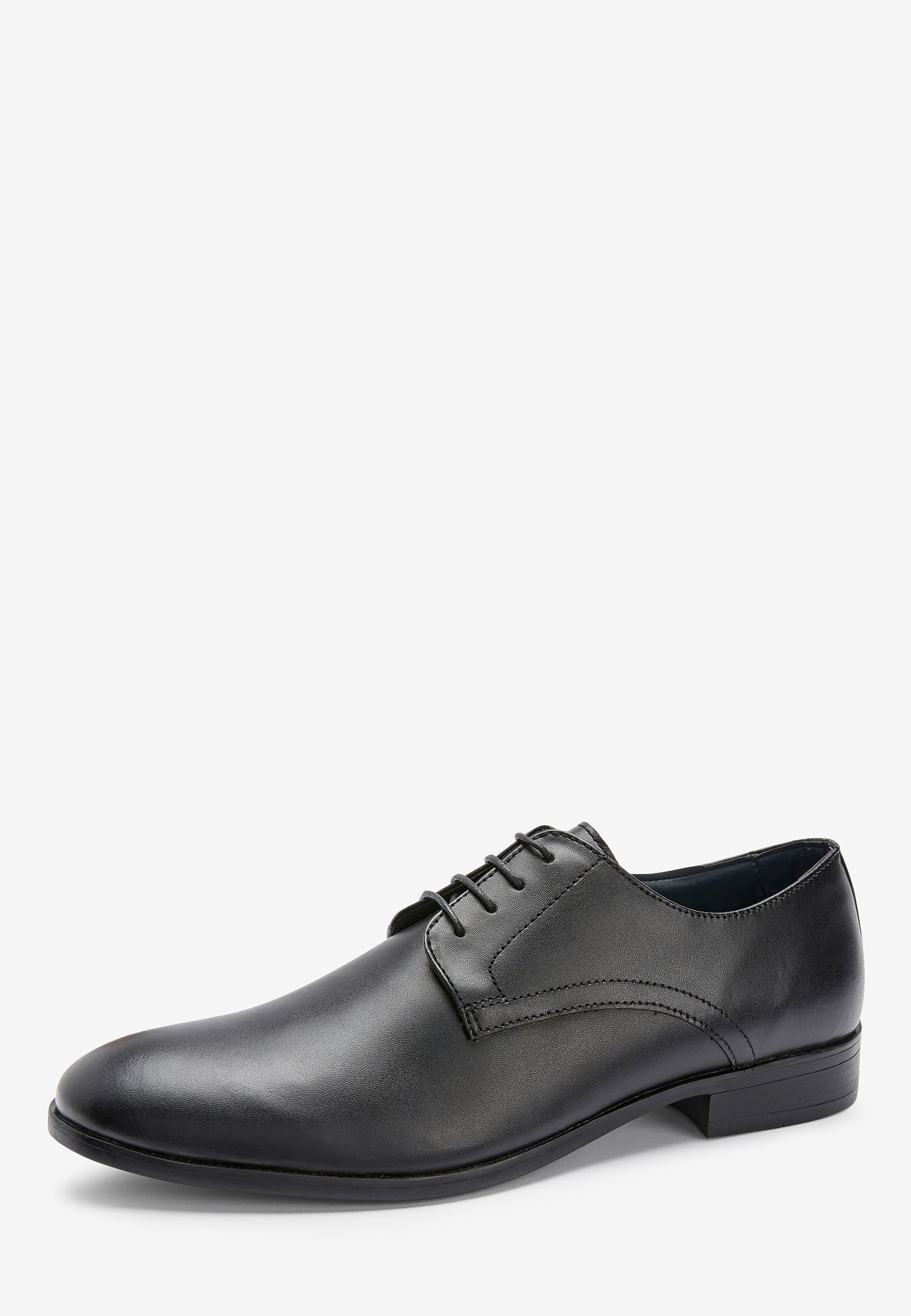 Next TAN ROUND TOE DERBY SHOES - Eleganta snörskor - black/svart - Herrskor nhcH7