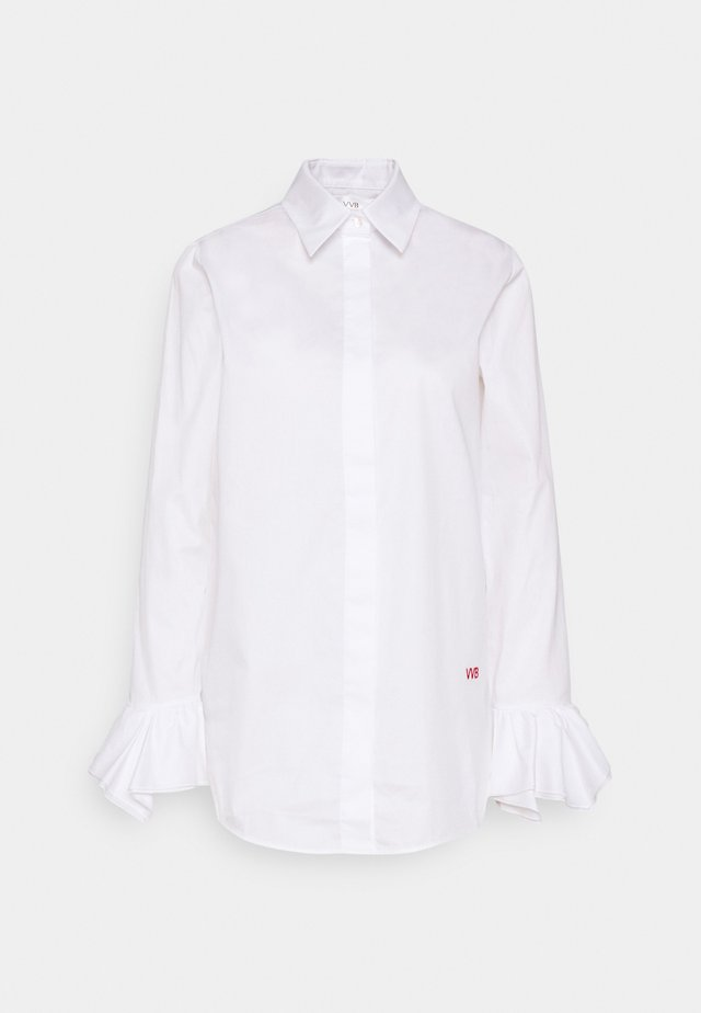 FLOUNCE CUFF ORGANIC SHIRT - Button-down blouse - white