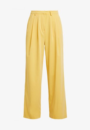 SRJAMIE PLEAT PANT - Broek - ochre
