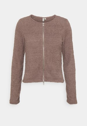 FLUFFY ZIPPER - Cardigan - nougat