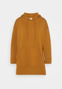 ONLY - ONLJENA LIFE LONG HOODIE - Huppari - glazed ginger - 5