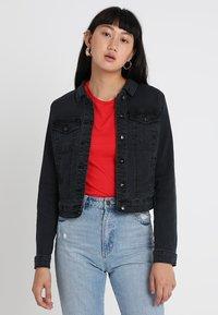 Vero Moda - VMHOT SOYA  - Denim jacket - dark grey denim - 0