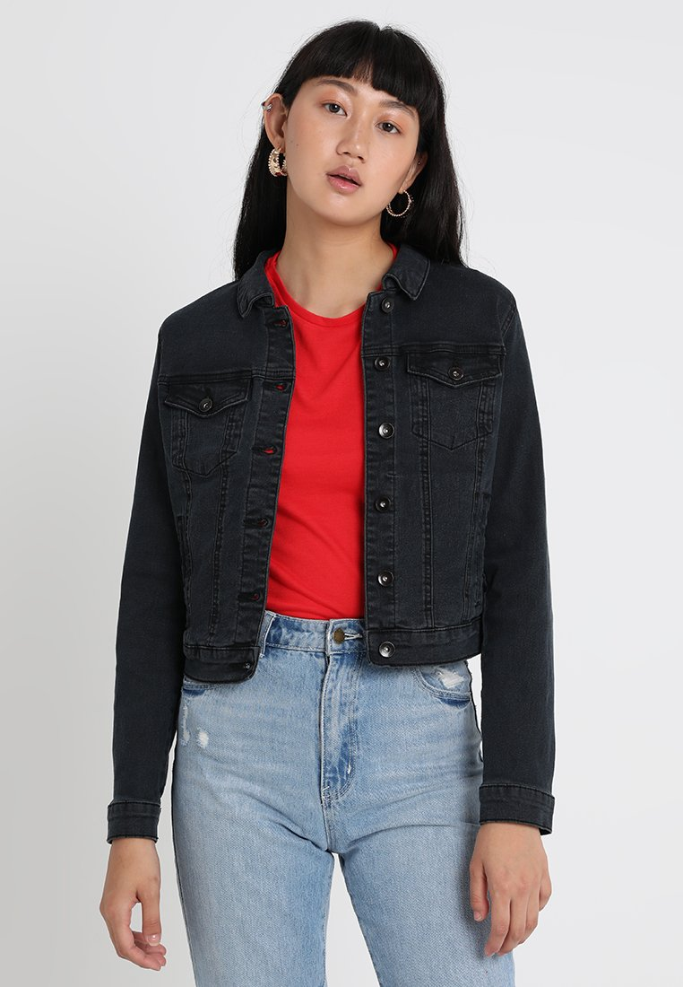 Vero Moda - VMHOT SOYA  - Denim jacket - dark grey denim