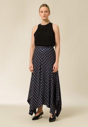 Spódnica trapezowa - true blue check