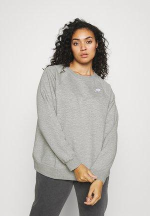 CREW - Sweatshirt - dark grey heather/matte silver