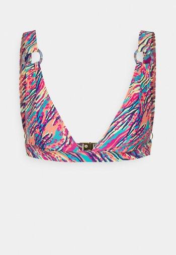 RING DETAIL PRINTED TRIANGLE - Bikini top - multi