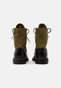 Belstaff - TROOPER BOOT - Šněrovací kotníkové boty - black - 2