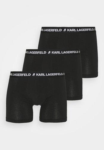 LOGO BOXERS 3 PACK - Culotte - black