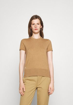 SHORT SLEEVE - T-shirt basic - camel melange