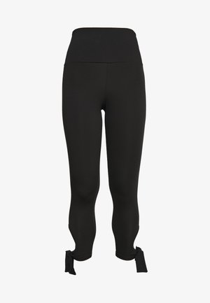 CUT OUT LEGGING - Tights - black