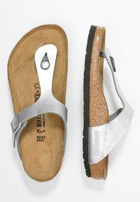Birkenstock - GIZEH - T-bar sandals - silver - 3