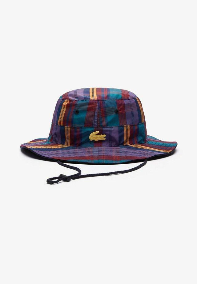 Chapeau - violet / blanc
