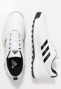 adidas Golf - TRAXION - Golfové boty - footwear white/core black/grey six - 1