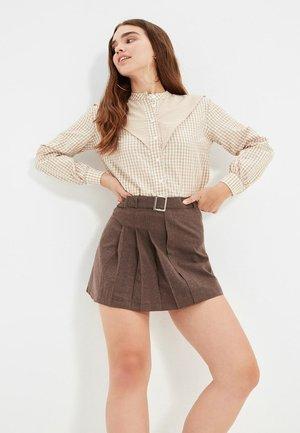 Pleated skirt - brown