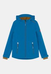 TrollKids - TROLLFJORD UNISEX - Softshellová bunda - azure blue/bronze - 0