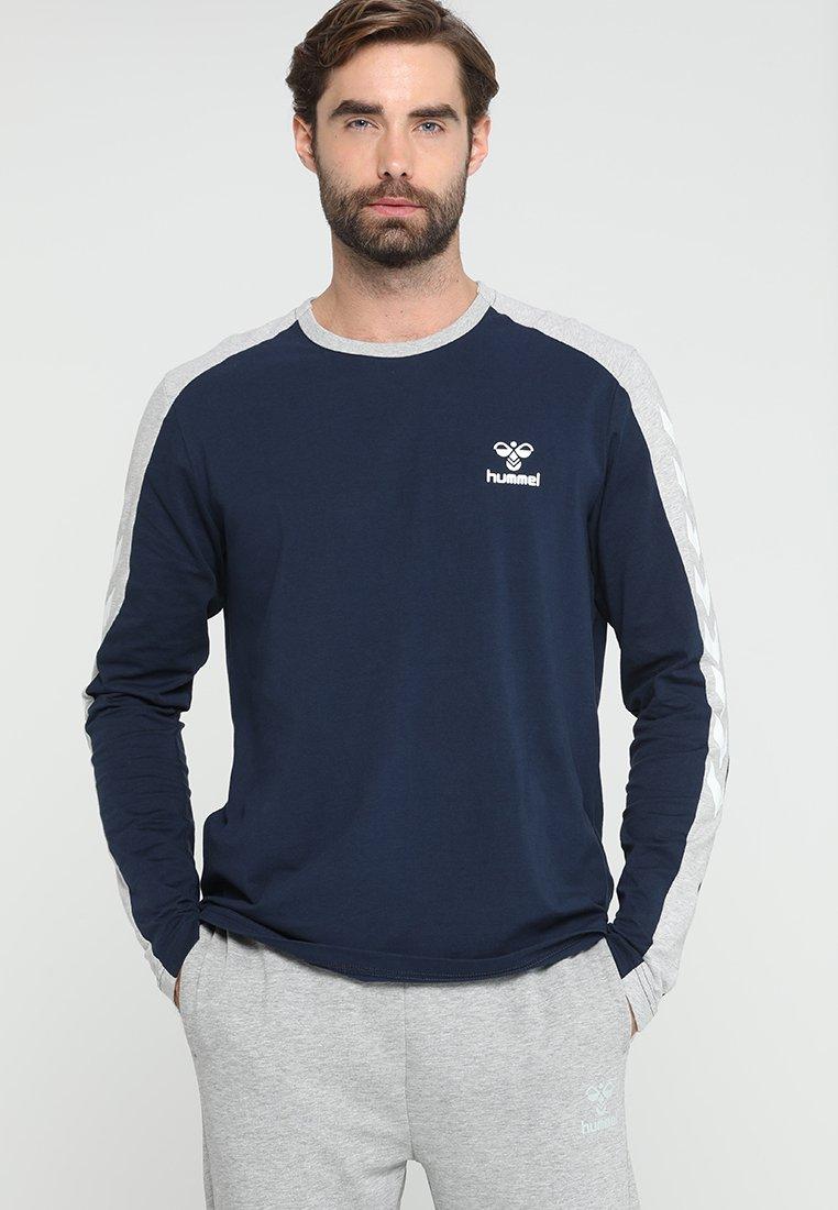 Hummel - FLINT - Langærmede T-shirts - black iris