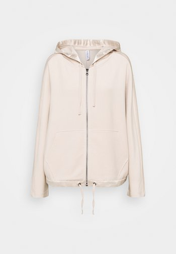 MORENO HOODIE - Zip-up sweatshirt - silver grey