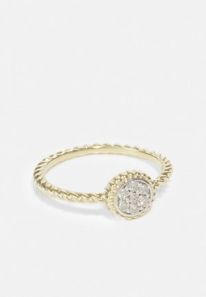 NATURAL DIAMOND RING CERTIFIED 0.12CARAT CLUSTER DIAMOND RINGS 9KT YELLOW GOLD DIAMOND JEWELLERY GIFTS FOR WOMENS - Ringe - gold