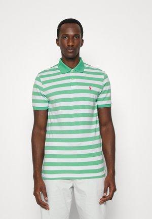 SHORT SLEEVE - Poloshirt - resort green heather/white