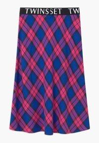 TWINSET - LUNGUETTE IN TESSUTO CHECK - Áčková sukně - pink - 1