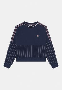 Fila - DEMI TAPED CREW NECK - Sweatshirt - black iris - 0