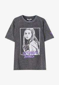PULL&BEAR - Print T-shirt - dark grey - 6