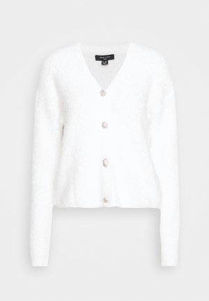 FLUFFY CARDI - Cardigan - off-white