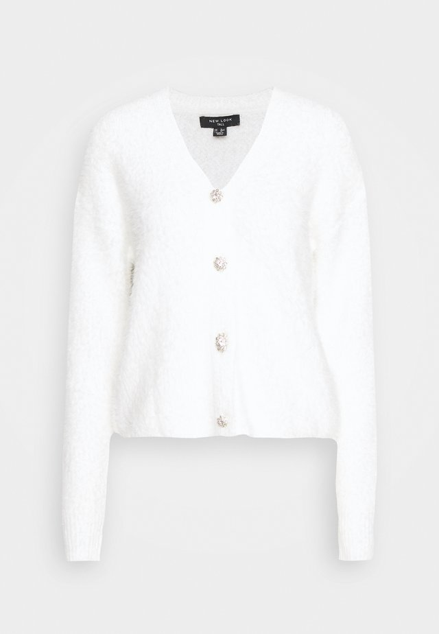 FLUFFY CARDI - Strikjakke /Cardigans - off-white