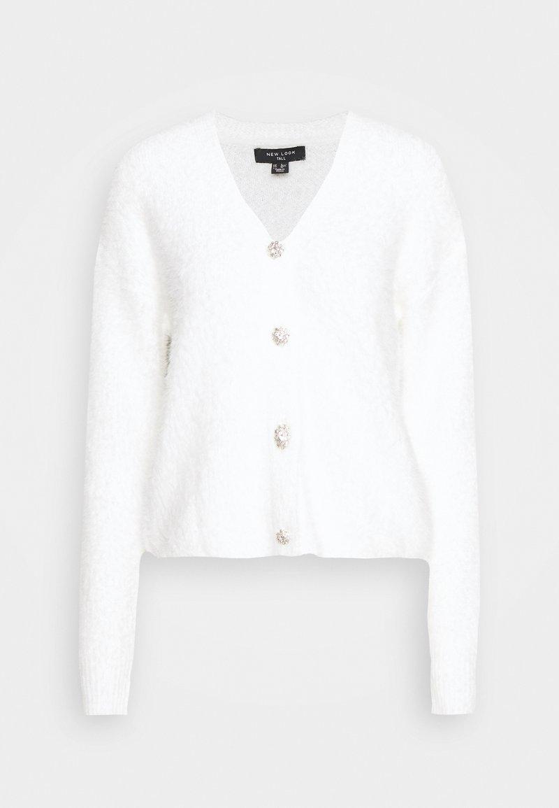 New Look Tall - FLUFFY CARDI - Kardigan - off-white