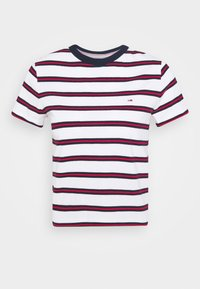 Tommy Jeans - REGULAR CONTRAST BABY TEE - Print T-shirt - white - 5
