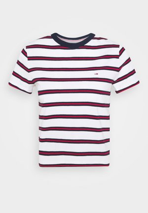 REGULAR CONTRAST BABY TEE - T-shirt con stampa - white