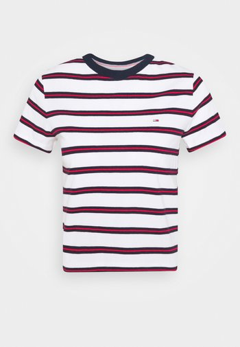 REGULAR CONTRAST BABY TEE - T-shirts med print - white