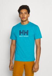 Helly Hansen - LOGO - Print T-shirt - caribbean sea - 0
