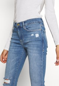 Frame Denim - DE JEANNE CROP RAW EDGE - Jeans Skinny Fit - blue denim - 4