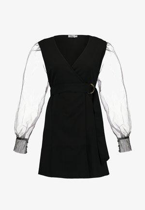 TINA MARIA SLEEVE MINI DRESS - Robe d'été - black