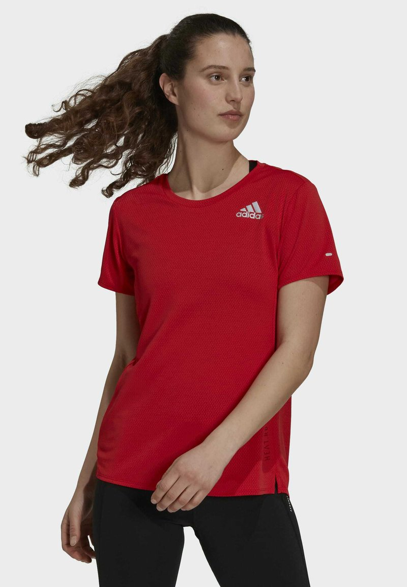 adidas Performance - HEAT RDY TEE - T-shirts med print - red