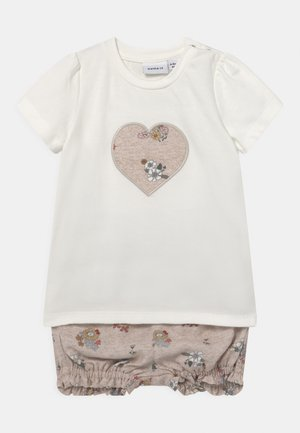 NBFDELFIN SET - Print T-shirt - snow white